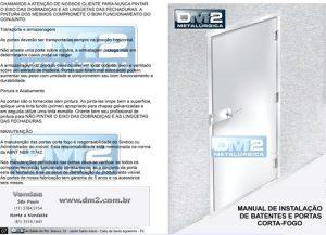 Manual de instalação da porta corta fogo DM2