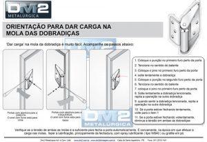 Orientação para dar carga na dobradiça de mola